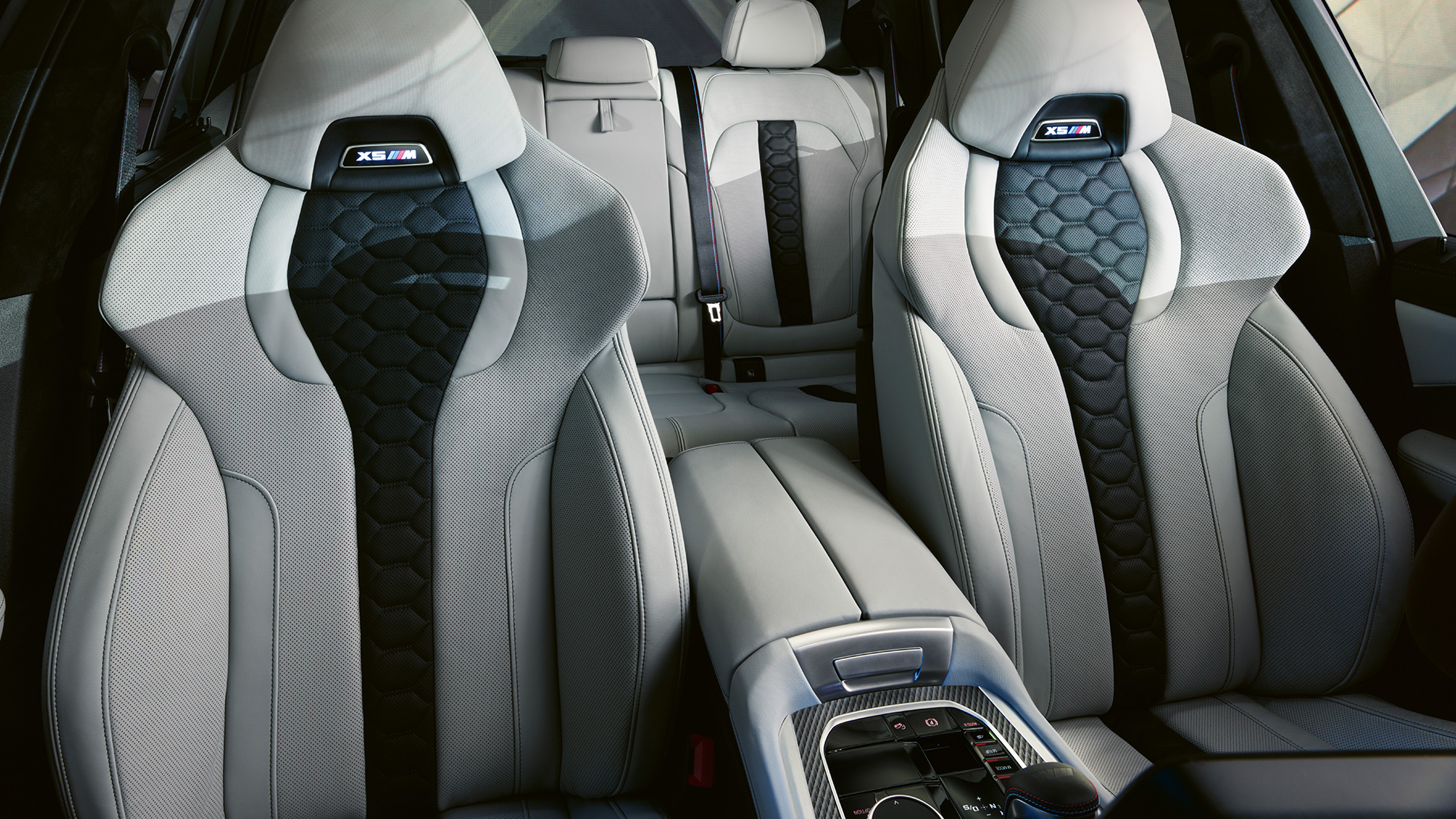M Multifunctional seats with illuminated X5 M logo BMW X5 M Competition F95 interior