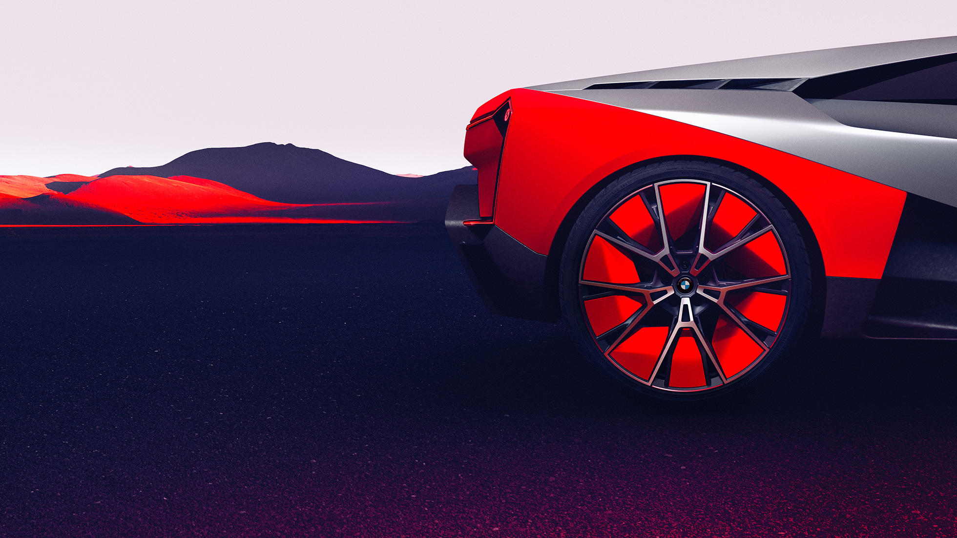 BMW Vision M NEXT, side view, standing, rims