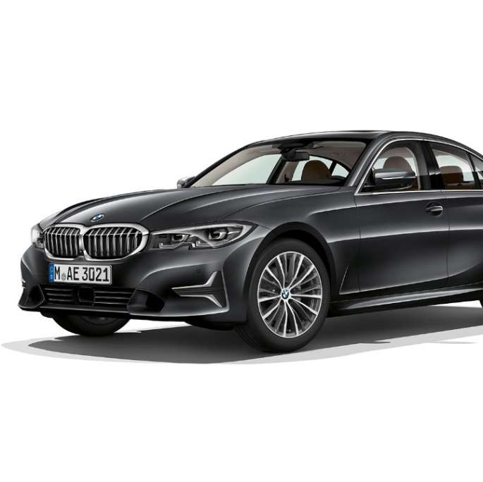 Side still shot of BMW 3 Series Sedan as Model Luxury Line.